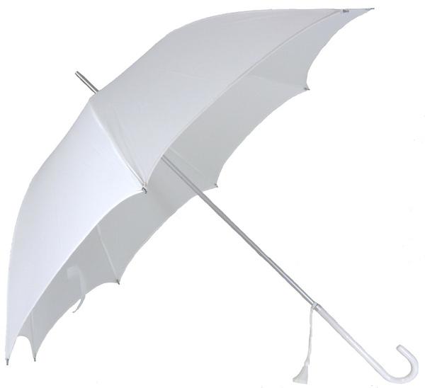 Bulk Lot X 12 Classic White Wedding Umbrella White Handle