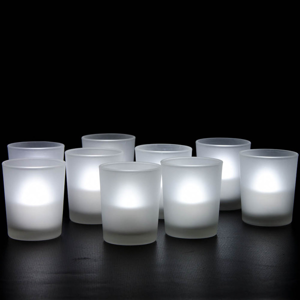120 X Frosted Glass Votive Tealight Candle Holder Only