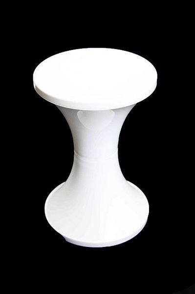 Bulk lot x 24 white arcade retro wedding party plastic stool party seat kitchen ebay - Witte plastic stoel ...