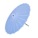 12 x Plain White Bamboo Rib Wedding Party Deco Japanese Parasol Umbrella