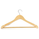120 x Solid Nature Wooden Clothes Wood Coat Suit Trousers Garment Dress Pant Suit Hangers