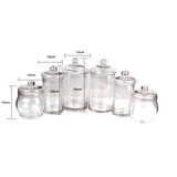 6 PCS  Candy Lolly Buffet Glass Assort Size Wedding Party  Jars Bowls