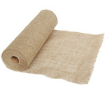 10 Meter x 35 Cm Wedding Event Natural Hessian Burlap Table Runner Decoration