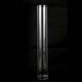 Bulk Lot 6 x Clear Glass Vases Cylinder 70CM x 10CM Wedding Event Table Deco