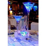 6 x Clear Glass Martini Vases 60CM x 15 CM