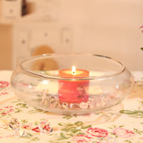 12 x Glass Floating Candle Bowl Wedding Decor Centrepiece Holders Wide Open