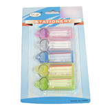 Bulk Lot x 60 Pcs Clear Color Plastic Key Holder Ring With ID Label Tags
