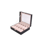 10 Grids Watches Jewellery Collection Display Storage Case Box Organizer Holder Black