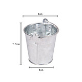 Bulk Lot x 25 Mini Silver Tin Buckets Wedding Party Accessory Candy Gift Container