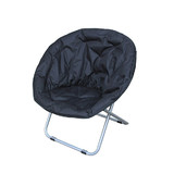 BN Camping Outdoor Moon Chair Oval Roundabout Papasan Chair Black