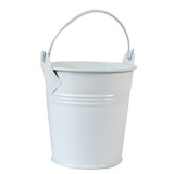 Bulk Lot x 25 Mini White Tin Buckets Wedding Party Accessory Candy Gift Container