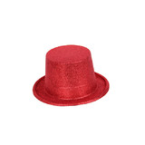 BN COLORFUL GLITTER PARTY FUN FANCY TOP HAT Red