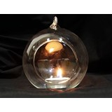 Bulk Lot x 20 Wedding Event Function Hanging Ball Clear Glass Candle Holder 10cm