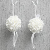 Bulk Lot 10 x White Wedding Decoration Party Garden Foam Roses Flower Ball 14cm