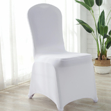 100 x White Lycra Spandex Wedding Event Party Strech Banquet Chair Covers Decoration