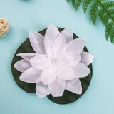 20 x White Lotus Flower Floating Paper Lantern Candles Wedding Party Lighting