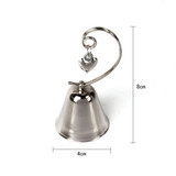 15 x Heart Ringing Bell Design Photo Name Card Holders Wedding Table Decor