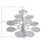 BN 3 Tier Metal Cupcake Dessert Tree Stand  Holds up 12 Cups High Tea Wedding
