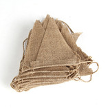 10m long 48 Flags Vintage Hessian Burlap Banner Bunting Flag Wedding Party Decor
