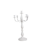 White Wedding Metal Vintage Candelabra Candlestick Dinner Candle Holders Stand