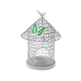 27cm White Wedding Bird Cage Tealight Votive Candle Holders Centrepieces