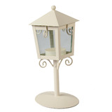 12 x Wedding Candle Lantern Vintage Candle Lamp Centerpiece White 19cm