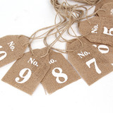 New Vintage Rustic Hessian Burlap Wedding Table Decoration Numbers 1-10