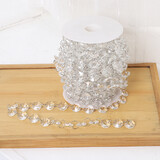 10M DIY Bead Garland Diamond Acrylic Clear Crystal Curtain Wedding Party Decor