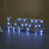 White Wooden LOVE LED Light Up Sign Free Standing Wedding Party Letters