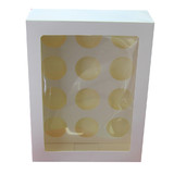 100 x Cup Cake Box Clear Window 12 Hole Muffin Wedding Favour Party Bomboniere