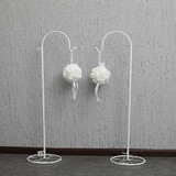 10 x 150cm Long White Adjustable Wedding Garden Shepherd Hook Crook Lantern Flower Holder