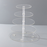 BN 5 Tier Maypole Clear Acrylic Round Cupcake Stand Wedding Party Didsplay