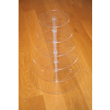 BN 6 Tier Maypole Clear Acrylic Round Cupcake Stand Wedding Party Didsplay