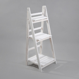 Wooden White Garden Home Plant Pot Rack 3 Tier Shelf Planter Stand Storage