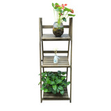 BN Wooden Dark Garden 3 Tier Shelf Plant Pot Rack Stand
