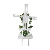 White Home Garden Windmill Plant Pot Rack Stand Decoration 158cm Tall
