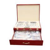 BN 72pcs Stainless Steel Cutlery Knife Spoon Splayd Set With Wooden Box