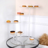 5 Tier Cascade Maypole Clear Acrylic Round Cupcake Stand Wedding Party Didsplay