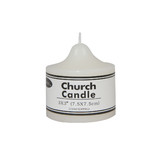 Box of 36 White Unscented Church Candles Wholesale Bulk - 7.5 x 7.5cm / 3x3''