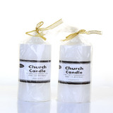 Box of 24 White Unscented Church Candles Wholesale Bulk - 7.5 x 15cm / 3x6''