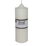 Box of 12 White Unscented Church Candles Wholesale Bulk - 7.5 x 22.5cm / 3x9''