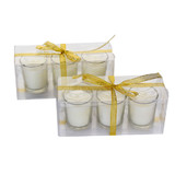 Bulk Lot 72 Clear Wedding No Scented Votive Candle Holder White Candle