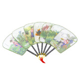 Bulk Lot x 24 Chinese Traditional Silk Hand Square Fan Wedding Party Gift