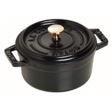 New 18cm Staub Cookware Cocotte Round 1.7L Black