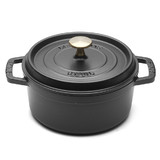 New 24cm Staub Cookware Cocotte Round 3.8L Black