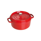 New 24cm Staub Cookware Cocotte Round 3.8L Cherry Red