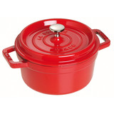 New 26cm Staub Cookware Cocotte Round 5.2L Cherry Red