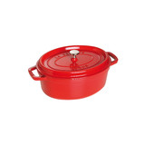 New 27cm Staub Cookware Cocotte Oval 3.2L Cherry Red