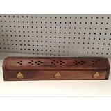 2 x Wooden Ganesh Box Incense Stick Cone Holder Conffin Burner Ash Catcher 30cm/12''