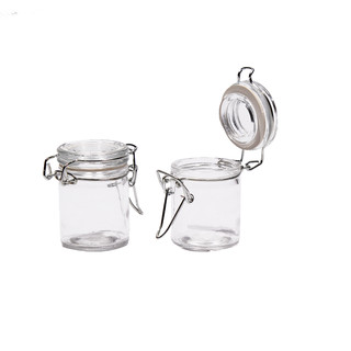 24 x 60ml Glass Jar Clip Lid Bottle Jam Storage Container Air Tight Seal